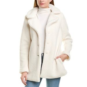 Laundry by Shelli Segal Teddy Coat in Ivory - M